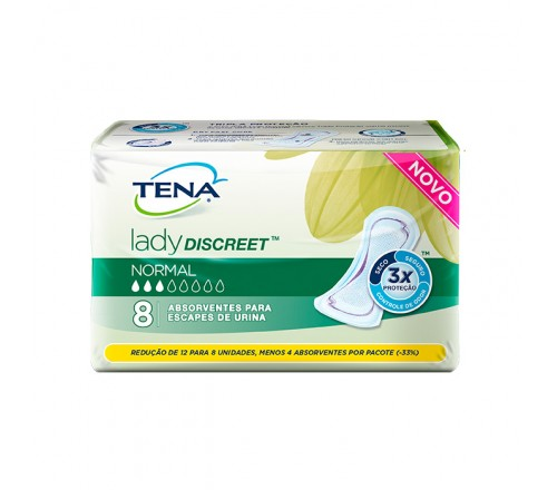 Absorvente Tena Lady Discreet Normal (8 absorventes por pacote)
