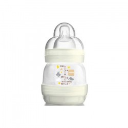 Mamadeira First Bottle Anti-cólica - Neutra - 130 ml - MAM