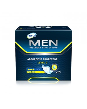 Absorvente Masculino Tena Men Level 2 (10 Absorventes por pacote)