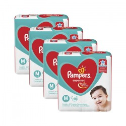 Fralda Infantil Pampers Supersec - 4 Pacotes Mensa Shop