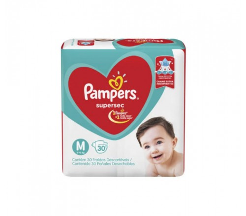 Fralda Infantil Pampers Supersec - 4 Pacotes